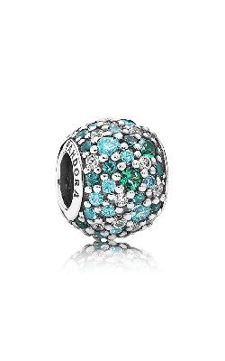 Pandora Ocean Mosaic Pave Mixed Green CZ & Green Crystal Charm 791261MCZMX product image