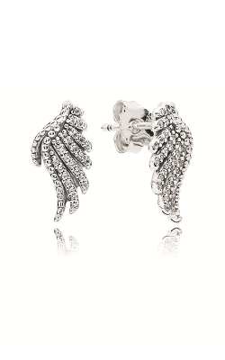PANDORA Majestic Feathers Clear CZ Earrings 290581CZ product image