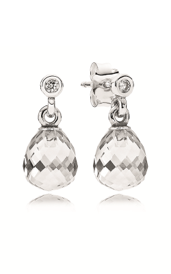 PANDORA Geometric Drops Clear CZ Earrings 290595CZ (Retired) product image
