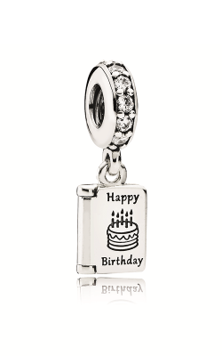 PANDORA Birthday Wishes Dangle Charm Clear CZ 791723CZ product image