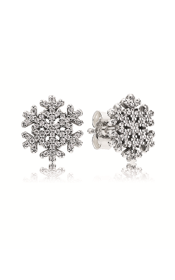 PANDORA Snowflake Clear CZ Earrings 290589CZ product image