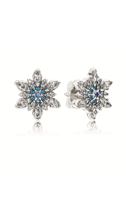PANDORA Crystalized Snowflake, Blue Crystals & Clear CZ Earrings 290590NBLMX product image