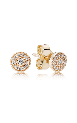 PANDORA Radiant Elegance, 14K Gold & Clear CZ Earrings 250325CZ product image