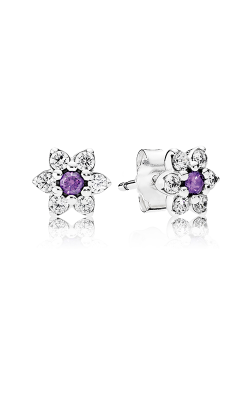 Pandora Forget Me Not Purple & Clear CZ Earrings 290690ACZ product image
