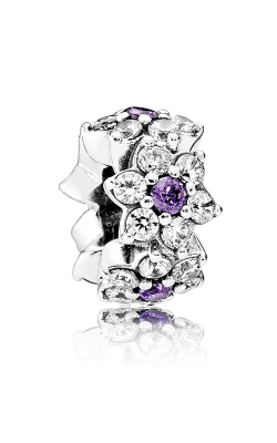 PANDORA Forget Me Not Spacer Purple & Clear CZ 791834ACZ product image