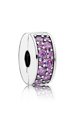 PANDORA Shining Elegance Clip Fancy Purple CZ 791817CFP product image
