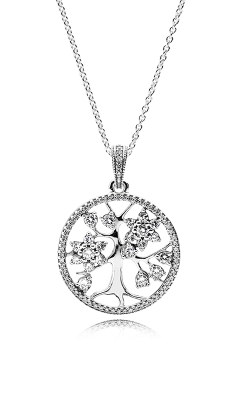 PANDORA Family Tree Clear CZ Pendant 390384CZ-80 product image