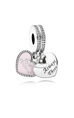 Pandora Best Friends Dangle Charm Soft Pink Enamel & Clear CZ 791950CZ product image