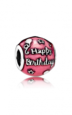PANDORA Birthday Celebration Charm Transparent Cerise Enamel 791983EN117 product image
