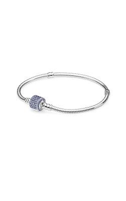 PANDORA Signature Clasp Bracelet Royal-Blue Crystal 590723NCB-16 product image