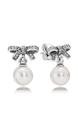 PANDORA Delicate Sentiments, White Pearl & Clear CZ Earrings 290596P (Retired) product image