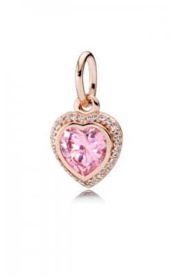 Pandora Rose™ & Pink & Clear CZ, Sparkling Love Pendant 380366PCZ product image