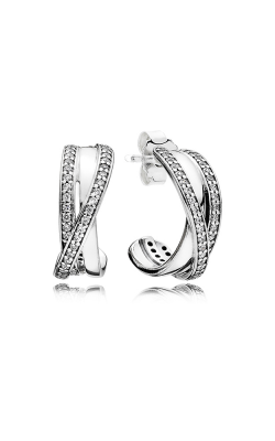 PANDORA Entwined Clear CZ Earrings 290730CZ product image