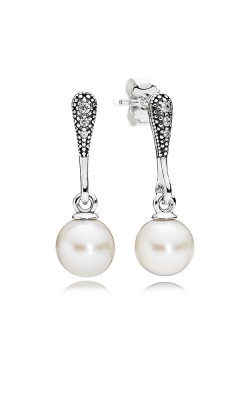 Pandora Elegant Beauty White Pearl & Clear CZ Earrings 290733P product image