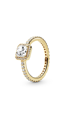 PANDORA Timeless Elegance, 14K Gold & Clear CZ	Ring 150188CZ-56 product image