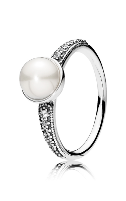 PANDORA Elegant Beauty White Pearl & Clear CZ Ring 191018P-50 (Retired) product image
