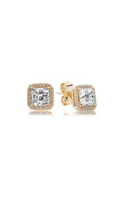 Pandora Timeless Elegance 14K Gold & Clear CZ Earrings 250327CZ product image