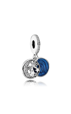 PANDORA Vintage Night Sky Dangle Charm Shimmering Midnight Blue Enamel & Clear CZ 791993CZ product image