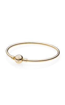 PANDORA 14K Gold Bangle w/ Signature ClaspBracelet 550713-19 product image
