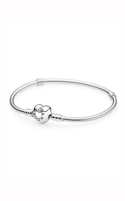 Pandora Silver Charm Bracelet With Heart Clasp 590719-19 product image