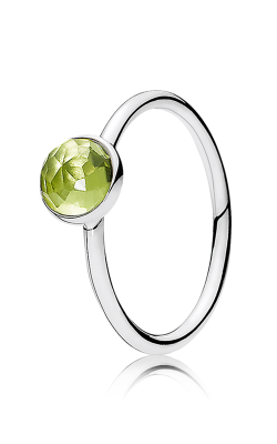 PANDORA August Droplet Peridot Ring 191012PE-56 (Retired) product image