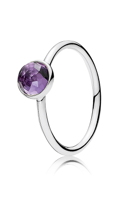 PANDORA February Droplet Synthetic Amethyst Ring 191012SAM-54 (Retired) product image