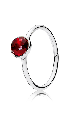 PANDORA July Droplet Synthetic Ruby Ring 191012SRU-56 (Retired) product image