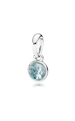 PANDORA March Droplet Aqua Blue Crystal Pendant 390396NAB (Retired) product image