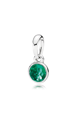 PANDORA May Droplet Royal-Green Crystal Pendant 390396NRG (Retired) product image