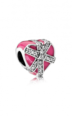 PANDORA Gifts of Love Magenta Enamel & Clear CZ 792047CZ product image