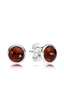 PANDORA January Droplets Garnet Earrings 290738GR product image