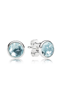 PANDORA March Droplets, Aqua Blue Crystal Earrings 290738NAB product image