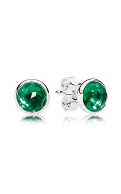 PANDORA May Droplets Royal-Green Crystal Earrings 290738NRG (Retired) product image