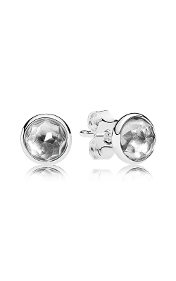 PANDORA April Droplets Rock Crystal Earrings 290738RC (Retired) product image