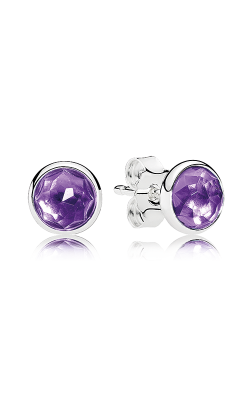PANDORA February Droplets Synthetic Amethyst Earrings 290738SAM (Retired) product image