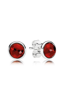 PANDORA July Droplets Synthetic Ruby Earrings 290738SRU (Retired) product image