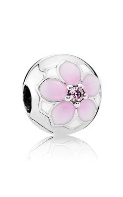 Pandora Magnolia Bloom Clip Pale Cerise Enamel & Pink CZ 792078PCZ product image
