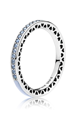 PANDORA Radiant Hearts Air Blue Enamel & Sky Blue Synthetic Spinel 191011SSS-48 (Retired) product image