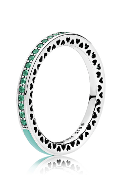 PANDORA Radiant Hearts Bright Mint Enamel & Royal Green Crystals 191011NRG-48 (Retired) product image