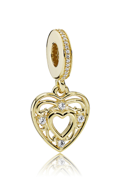 Pandora Romantic Heart Dangle Charm Clear CZ 751001CZ product image