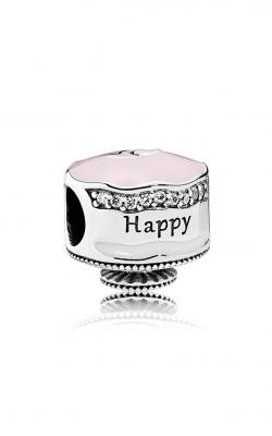 PANDORA Happy Birthday Cake Charm Mixed Enamel & Clear CZ 792061ENMX product image