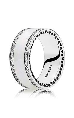 PANDORA Hearts Silver Enamel & Clear CZ Ring 191024EN23-56 product image