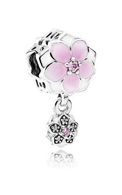 Pandora Magnolia Bloom Charm Pale Cerise Enamel Pink & Clear CZ 792077PCZ product image