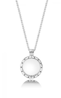 PANDORA Floating Locket, Medium, Sapphire Crystal Glass Pendant 590529-60 product image