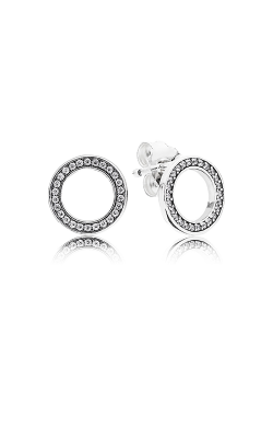 PANDORA Forever Pandora Clear CZ Earrings 290585CZ product image