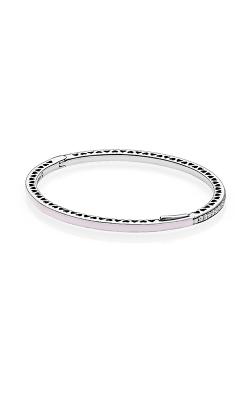 PANDORA Radiant Hearts Light Pink Enamel & Clear CZ Bracelet 590537EN68-3 product image