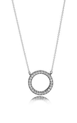 PANDORA Hearts of PANDORA, Clear CZ Necklace 590514CZ-45 product image