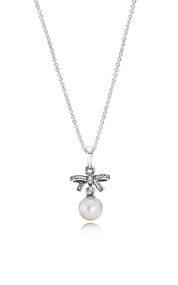 PANDORA Delicate Sentiments, White Pearl & Clear CZ Necklace 390380P-70 product image