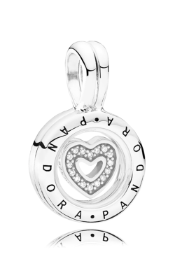 PANDORA Floating Locket Sapphire Crystal Glass & Clear CZ 792144CZ product image