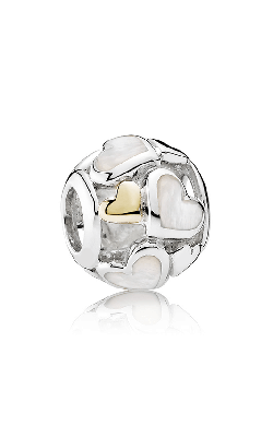 Pandora Luminous Hearts, Mother-Of-Pearl & 14K Gold Charm 791879MOP  product image